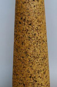 Tall mid century cork table lamp