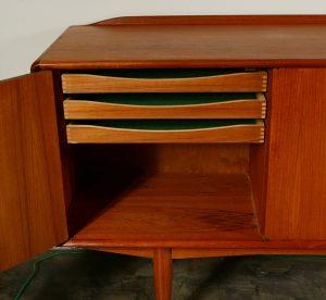 Inside drawers of Alf Aaseth credenza