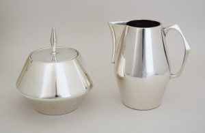 Diamond sterling coffee set designed by John Prip