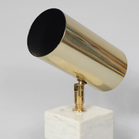 Brass and marble spot light by koch & lowy
