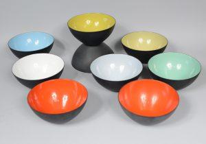 Krenit bowls designed by Herbert Krenchel