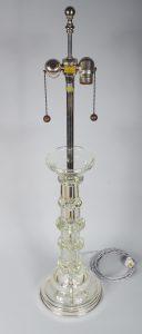 Marbro glass column table lamp