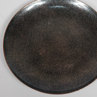 black enamel on copper bowl by Jade Snow Wong