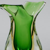 Murano sommerso vase attributed to Seguso